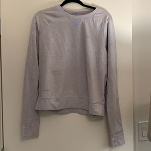 Baby Blue Lululemon Light Sweatshirt w thumb holes